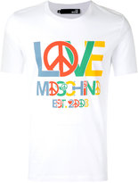 Love Moschino peace logo T-shirt - men - Cotton/Spandex/Elastane - L