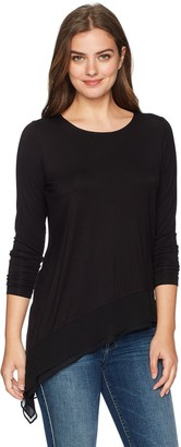 Foxcroft Women's Long Sleeve Asymmetrical Pullover Knit