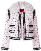 Moncler Gamme Rouge shearling collar bouclé jacket