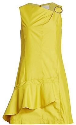 3.1 Phillip Lim Asymmetrical Ruffe Mini Dress