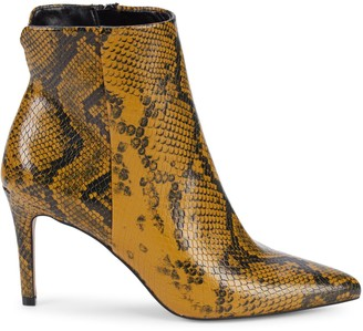Steven by Steve Madden Leiland Embossed Faux Leather Stiletto Booties