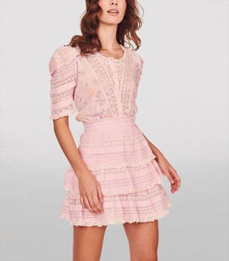 LoveShackFancy Embroidered Quincy Dress