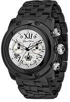 Glam Rock Unisex GR10164 Miami Collection Chronograph Black Ion-Plated Stainless Steel Watch