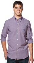 Chaps Men's Mini-Check Poplin Easy-Care Shirt