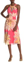 Trina Turk Summery Halter Floral Print Midi Dress