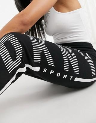 DKNY cuffed logo jogger in black