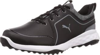 Puma Men's Grip Fusion 2.0 Golf Shoe Black-Quiet Shade 7 UK