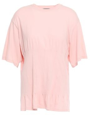 Haider Ackermann Pintucked Cotton-jersey T-shirt