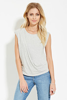 Forever 21 FOREVER 21+ Contemporary Draped-Front Top