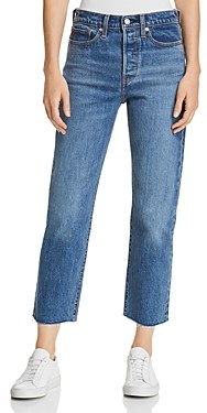 Levi's Wedgie Crop Straight Jeans in Love Triangle