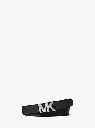 Michael Kors Leather Logo-Buckle Belt