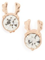 Topshop Women's Crystal Reindeer Stud Earrings
