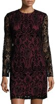 Julia Jordan Lace-Overlay Sheath Dress, Black/Red