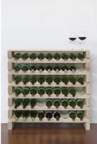 6 Layers of 9 Bottles Wine Rack Finish: Top Shelf Natural