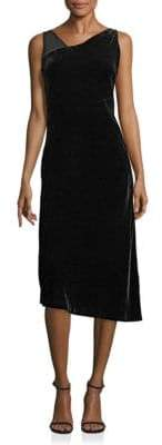 Lafayette 148 New York Sleeveless Asymmetrical Velvet Lorde Dress