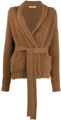 Roberto Collina belted long-sleeve cardigan