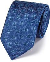 Charles Tyrwhitt Blue and Sky Silk Vintage Paisley Luxury Tie Size OSFA