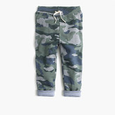 J.Crew Boys' jersey-lined cozy camo sweatpant