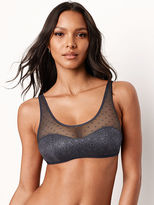 The Bralette Collection Dot Mesh & Lace Scoop Bralette