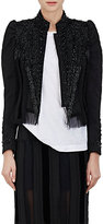 Dries Van Noten Women's Bach Puff-Shoulder Crop Jacket