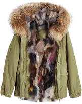 Mr & Mrs Italy Cotton Parka with Raccoon and Fox Fur