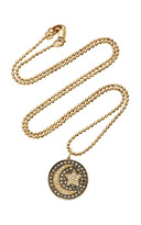 Sydney Evan Pave Moon and Star Medallion Charm