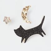 Des Petits Hauts Lours Cat, Moon and Star Badges, Multi