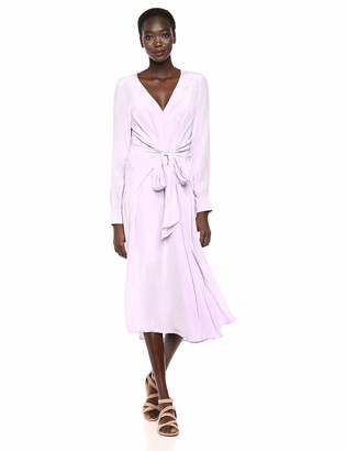 ASTR the Label Women's Perspective Long Sleeve Button Down Flowy Midi Dress