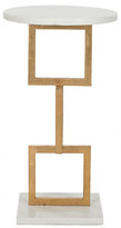 One Kings Lane Mattias Side Table - Gold/White