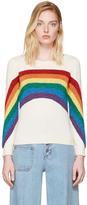Marc Jacobs Ivory Rainbow Sweater