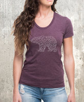 Etsy Bear Made of Triangles Women's T-Shirt - American Apparel Women's T-Shirt