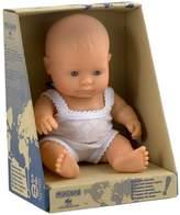 Miniland Baby Doll European Girl, 21 cm