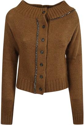 N°21 N.21 Rib Knit Buttoned Cardigan