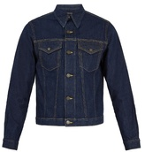 Calvin Klein 205w39nyc Contrast-stitch Point-collar Denim Jacket