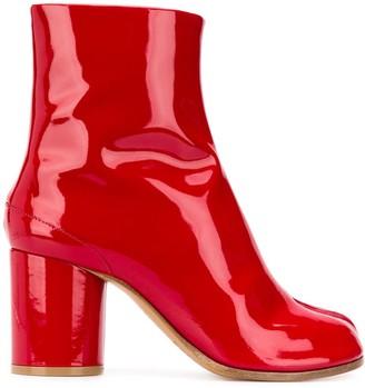 Maison Margiela patent leather Tabi boots