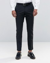 Selected Tuxedo Suit Pants With Stretch In Slim Fit