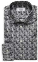 Eton Abstract-Print Cotton Dress Shirt