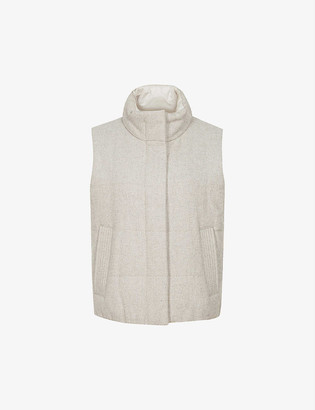 Reiss Ivy padded wool-blend gilet