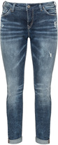 Silver Jeans Plus Size Straight cut washed jeans