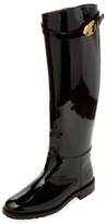 Valentino Patent Leather Lion Buckle Boot