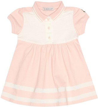 Moncler Enfant Baby stretch cotton pique dress