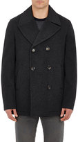 Luciano Barbera Men's Cashmere Double-Breasted Peacoat-DARK GREY