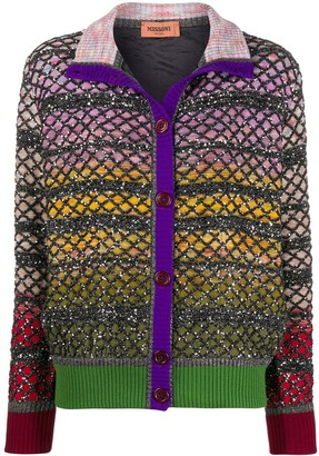 Missoni Sequin-Embellished Layered Cardigan