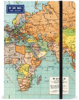 Cavallini & Co. NBWRD2 6 by 8-Inch Notebook, World Maps, 144-Page
