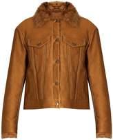 SIES MARJAN Tigrado shearling-lined jacket