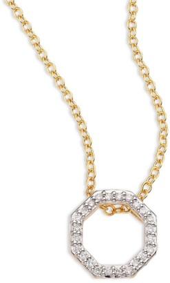 Phillips House Open Petite Hero Diamond & 14K Yellow Gold Pendant Necklace