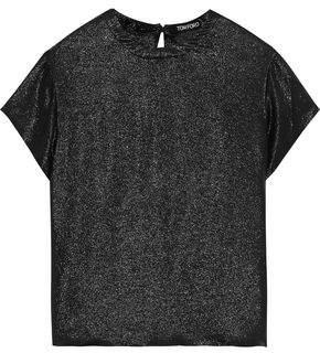 Tom Ford Silk-blend Lame T-shirt