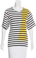 Balenciaga Striped Short Sleeve Top