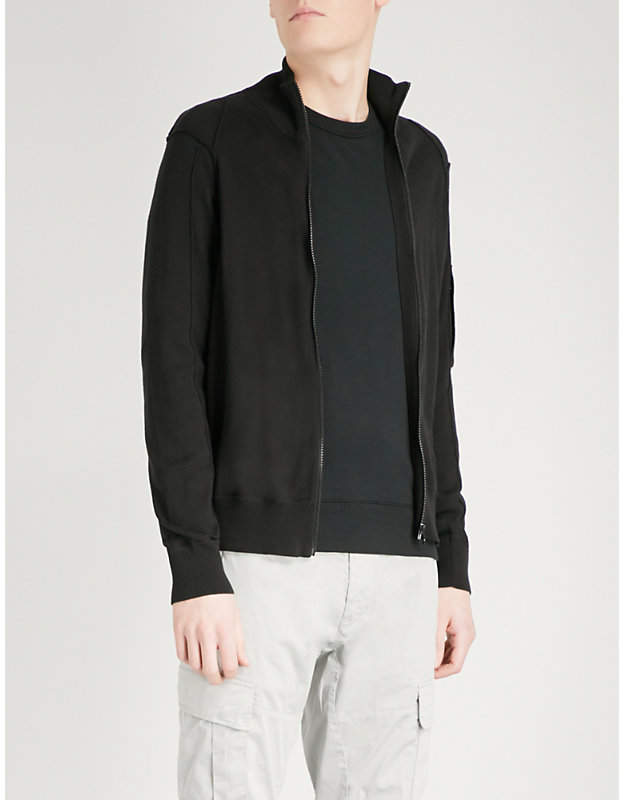 C.P. Company Zipped cotton-knitted jumper