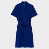 Paul Smith Women's Cobalt Blue Silk Shirt-Dress